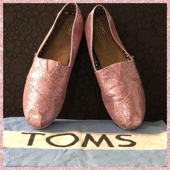 357a6ee5f96c Toms Shoes | Pink Glitter Womens Classic Slipons | Poshmark